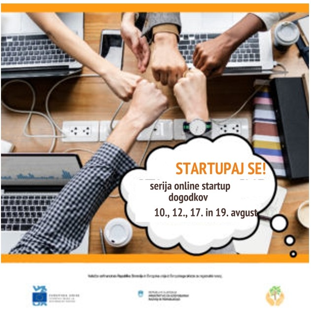 STARTUPAJ SE! – serija online startup delavnic za Vas